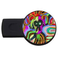 Colorful goat USB Flash Drive Round (1 GB)