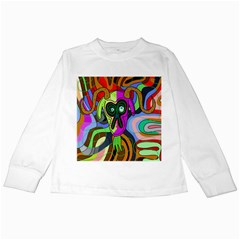 Colorful goat Kids Long Sleeve T-Shirts