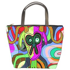 Colorful goat Bucket Bags