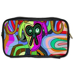 Colorful goat Toiletries Bags 2-Side