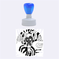 Colorful goat Rubber Round Stamps (Medium)