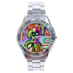 Colorful goat Stainless Steel Analogue Watch