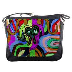 Colorful goat Messenger Bags