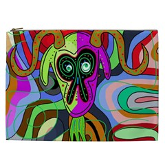Colorful goat Cosmetic Bag (XXL)