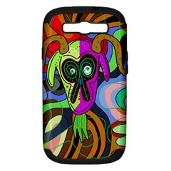 Colorful goat Samsung Galaxy S III Hardshell Case (PC+Silicone)