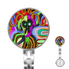 Colorful goat Stainless Steel Nurses Watch