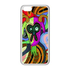 Colorful goat Apple iPhone 5C Seamless Case (White)
