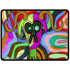 Colorful goat Double Sided Fleece Blanket (Large)