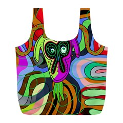 Colorful Goat Full Print Recycle Bags (l)