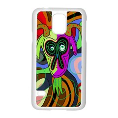 Colorful goat Samsung Galaxy S5 Case (White)