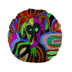Colorful goat Standard 15  Premium Flano Round Cushions