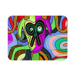 Colorful goat Double Sided Flano Blanket (Mini)
