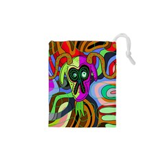 Colorful goat Drawstring Pouches (XS)