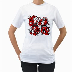 88 Women s T-Shirt (White) (Two Sided)