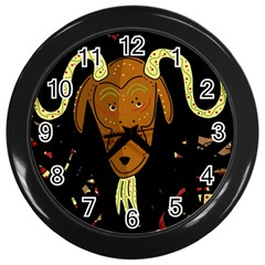 Billy goat 2 Wall Clocks (Black)