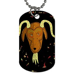 Billy goat 2 Dog Tag (Two Sides)