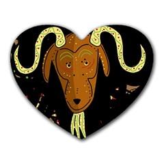 Billy goat 2 Heart Mousepads