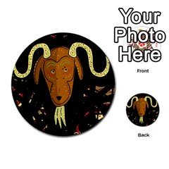 Billy goat 2 Multi-purpose Cards (Round)