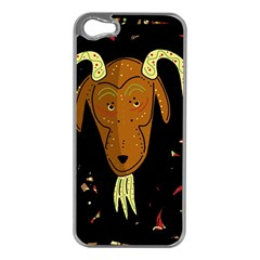 Billy goat 2 Apple iPhone 5 Case (Silver)