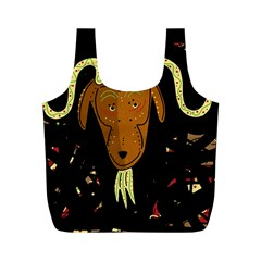 Billy goat 2 Full Print Recycle Bags (M)