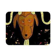 Billy goat 2 Double Sided Flano Blanket (Mini)