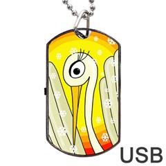 Crane Dog Tag USB Flash (One Side)