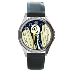 Crane 2 Round Metal Watch