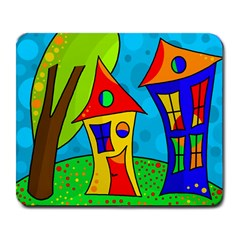 Two houses  Large Mousepads