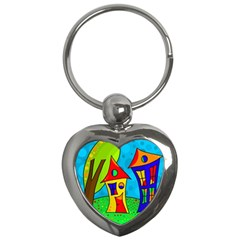 Two houses  Key Chains (Heart)