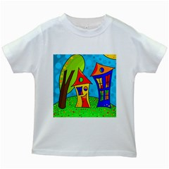 Two houses  Kids White T-Shirts