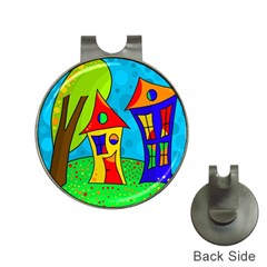 Two houses  Hat Clips with Golf Markers