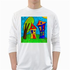 Two houses  White Long Sleeve T-Shirts