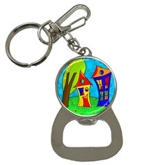Two houses  Bottle Opener Key Chains