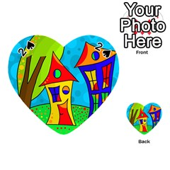 Two houses  Playing Cards 54 (Heart)