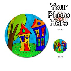 Two houses  Multi-purpose Cards (Round)