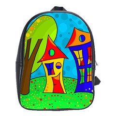 Two houses  School Bags(Large)