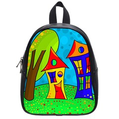 Two houses  School Bags (Small)