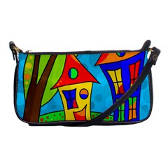 Two houses  Shoulder Clutch Bags