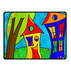 Two houses  Fleece Blanket (Small)