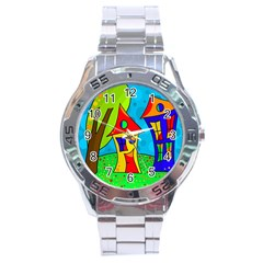 Two houses  Stainless Steel Analogue Watch
