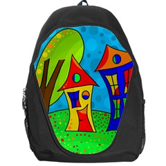 Two houses  Backpack Bag
