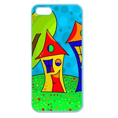 Two houses  Apple Seamless iPhone 5 Case (Color)
