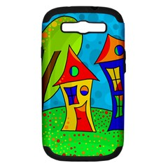 Two houses  Samsung Galaxy S III Hardshell Case (PC+Silicone)
