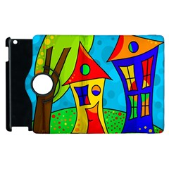 Two houses  Apple iPad 2 Flip 360 Case