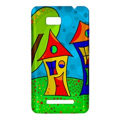 Two houses  HTC One SU T528W Hardshell Case