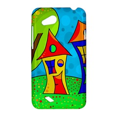 Two houses  HTC Desire VC (T328D) Hardshell Case