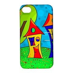Two houses  Apple iPhone 4/4S Hardshell Case with Stand