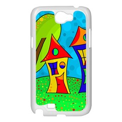 Two houses  Samsung Galaxy Note 2 Case (White)