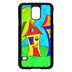 Two houses  Samsung Galaxy S5 Case (Black)