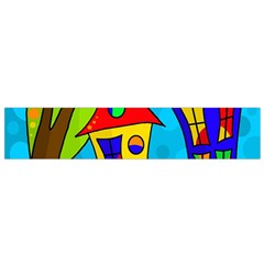Two houses  Flano Scarf (Small)